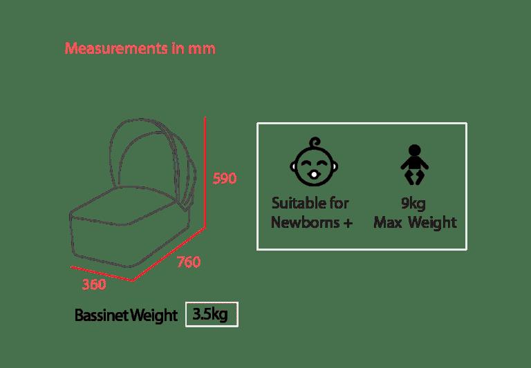 Internal Bassinet Measurements